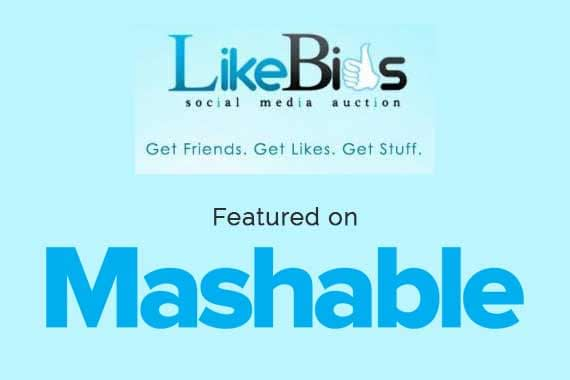 LikeBids on Mashable done by Quadregal